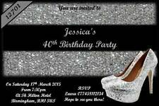 10 x Personalised Birthday Invitations 18th 21st 30th 40th 50th Party Invites