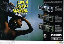 Publicité advertising 1986 (2 pages) Poste Hi-Fi radio Philips