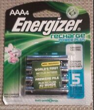 Energizer NH12BP-4 Rechargeable AAA Battery 4 Pack 800mAh NiMH 1.2v Pre-Charged