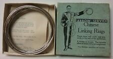 Arrow Service Chinese 8 Linking Rings Magic Trick 1950's Boxed w/ Instruction
