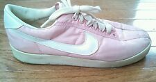 Vintage Nike Racer 80s Running Shoe White and Pink Size 5