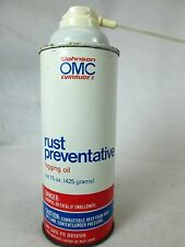 Vintage OMC Johnson/Evinrude Rust Preventitive fogging oil empty metal can