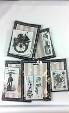 LaBlanche Foam Rubber Steampunk Stamp Lot Roses Train Gears Umbrella Man Scale
