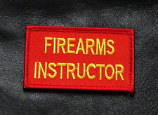 FIREARMS INSTRUCTOR EMBROIDERED 3 INCH TACTICAL MORALE VELCRO PATCH