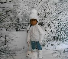 NEW HAND KNITTED OUTFIT FOR SASHA  DOLL by Alicewhitewings  *snow white*