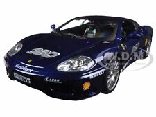 FERRARI 360 CHALLENGE BLUE 1/24 DIECAST MODEL CAR BY BBURAGO 26304