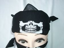 12 pieces Skull Jaw Bone Bandana Head Wrap Paintball Face Mask Biker Scarf - NR