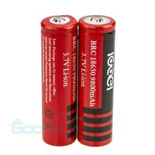 2Pc 18650 3.7V 9800mAh Li-ion Rechargeable Battery For Laser Pointer Flashlight