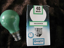 6 x Crompton 40W GREEN BC B22 Coloured Lamp Light Bulb 240V Job Lot UK Seller