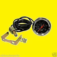 """Tractor Universal 2"""" Water Temperature Gauge Numeric Chrome Bezel Ford JD MF IH"""