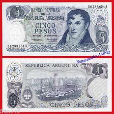 ARGENTINA 5 Pesos 1974 1976  Ley 18 188/69  Pick 294  SC / UNC