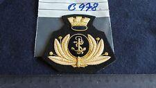 Italia Berretti distintivo Marine GOLDEN su Nero grandi 1 pezzi (b978)