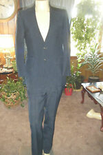 Vintage Men's PETROCELLI Blue Pinstriped Suit FLEX-ARM-ATIC Silhouette