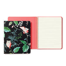 """Kate Spade - Spiral Notebook - """"Birch Floral Concealed"""" - 112 Lined Pages"""