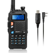 BAOFENG UV-5X Dual Band Two-Way Radio +Program Cable Compatible With WIN10 MAC
