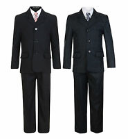 BOYS SUITS 5 PIECE FORMAL WEDDING PARTY SUIT 2-10 YEARS BNWT