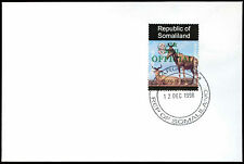 Somaliland 1998 Hartebeest Airmail Official Green Overprint Cover #C33796