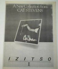 CAT STEVENS IZITSO 1977 UK Poster size Press ADVERT 16x12""