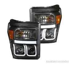 Black Clear U-Bar Projector Headlights fits F250/F350/F450/F550 SD Anzo 111292