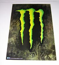 "MONSTER ENERGY DRINK ""M"" CLAW POSTER SKATER MOTO X  22"" X 15 1/2"" BRAND NEW!"