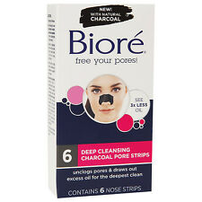 Biore Deep Cleansing Charcoal Pore Strips 6 ea