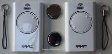 2 x FAAC XT2 868 SLH LR Telecomando 2 Canali Bianco UK Stock, spedizione rapida