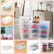 10 Pcs Home Plastic Clear Shoe Boot Box Stackable Foldable Storage Organizer t t