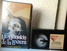 LA MANSION DE LA LOCURA MOCTEZUMA 1994 TOPACIO HOME VIDEO BETA PAL ALLAN POE RAR