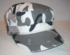 Alternative Distressed Military Army Grey Camouflage Camo Jeep Fidel Cap Hat