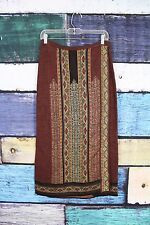 NEW Peruvian Connection Thai Faux Wrap Baby Alpaca Maxi Sweater Skirt MEDIUM M