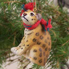 JAGUAR with Scarf Tiny One Miniature Christmas ORNAMENT
