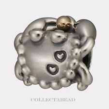 Authentic Pandora Sterling Silver and gold Happy Crab Bead 791135