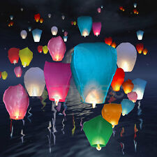 10 x Multi Colour Flying  Chinese Sky Lanterns UFO Balloon