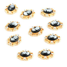 10pcs Alloy Nail Art Tips 3D Rhinestone Glitters Beads Acrylic DIY Decoration AD