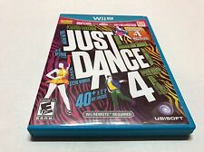 Just Dance 4 Nintendo Wii U 2012 Complete - Great  Condition - Ships Fast
