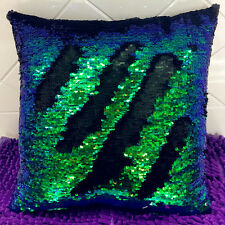 Magic Square Reversible Mermaid Sequin Cushion Cover Glitter Throw Pillow WI