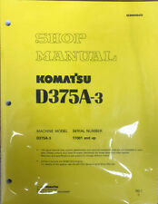Komatsu D375A-3 Service Repair Workshop Printed Manual