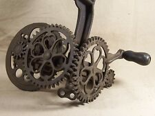 Antique Sinclair Scott Co. Apple Parer / Peeler Rare Steampunk Gears Kitchenware