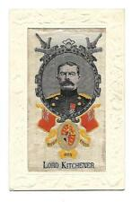WW1 Woven Silk Postcard Lord Kitchener