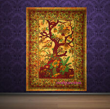 Indian Yellow Tree Of Life Psychedelic Wall Hanging Tapestry Throw Ethnic Art