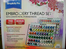 Brother 110 Spool Embroidery Thread Set w/2 Racks GENUINE BEST RESULTS ALWAYS