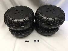 Power Wheels J8472 Kawasaki KFX Ninja Wheels 4 wheels 2 left 2 right & Retainers