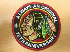 NHL Chicago Blackhawks 75th Aniversary Logo embroidered Iron on Patch High quali
