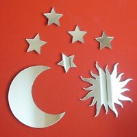 Sun, Moon & 5 Stars Bundle Acrylic Mirrors