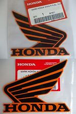 Honda REPSOL Wing Fuel Tank Decal Wings Sticker 2 x 90mm BLACK & ORANGE