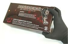 100 x BLACK PANTHERA TATTOO GLOVE - MEDIUM - POWDER FREE. Tattooists No 1