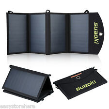 Suaoki 25W Portable Foldable Dual-Port Solar Charger for iPhone iPad Digital Dev