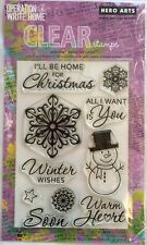 """Hero Arts """"Winter Wishes"""" Clear Stamp Set *New* CL647"""
