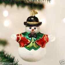 *Bowler Hat Snowboy* Snowman [24161] Old World Christmas Glass Ornament - NEW