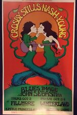 CROSBY STILLS NASH & YOUNG -BILL GRAHAM FILLMORE CONCERT POSTER - MINT CONDITION